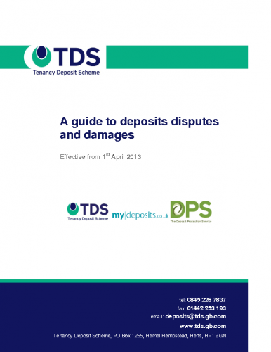TDS – A guide to deposits disputes and damages