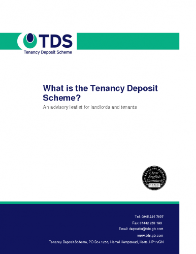 TDS – What is the Tenancy Deposit Scheme